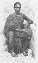 INDIA: Young woman of Madras (Chennai) ,  antique print 1892